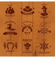 Dark Vintage Sheriff Label Set vector image