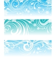 Set of banners with frosty ornament vector image vector image
