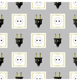 Power Plug Seamless Pattern vector image vector image