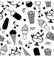 ice pattern vector image vector image