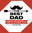 father day card vector image