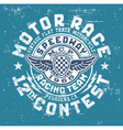 Motor race contest vector image