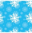 Snowflakes on blue sky vector image vector image