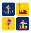Collection of elements related to carnival and vector image