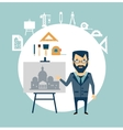 architect restoring old buildings vector image vector image
