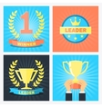 winner badges vector image vector image