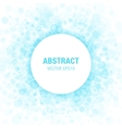Blue Abstract Circle Frame Design Element vector image