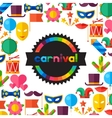 Celebration festive background with carnival flat vector image