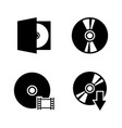 compact disk simple related icons vector image