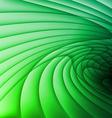 Green wavy stripes vector image