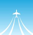 Plane Takeoff White Icon vector image