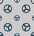Steering wheel icon sign Seamless pattern with vector image