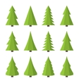 Christmas Tree Icon Set Flat Style vector image vector image