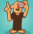 Photographer Dog vector image vector image