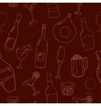 Wine and cocktail seamless background vector image