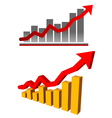 Financial chart vector image
