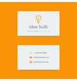 design studio business card template vector image vector image