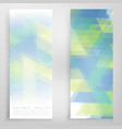banners and triangles vector image