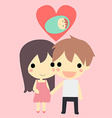 cute couple and baby vector image