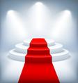 Illuminated Festive Stage Podium on White vector image