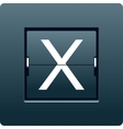 Letter X from mechanical scoreboard vector image