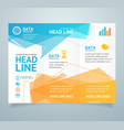realistic 3d detailed leaflet booklet vector image
