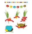 sukkot collection - four symbols of Jewish vector image