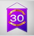 thirty years anniversary celebration design vector image