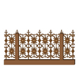 wrought-iron railing on white vector image