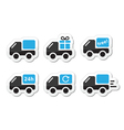 Delivery car shipping icons set vector image vector image