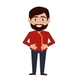 bellboy character hotel service icon vector image