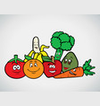 fruits veggies collection 3 vector image vector image