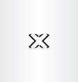 black logotype letter x logo icon design vector image