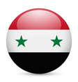 Round glossy icon of syria vector image