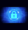 blue future technology security background vector image
