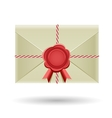 Closed envelope and seal vector image