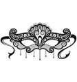 decorative mask vector image