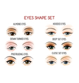 Eyes Shape Set vector image