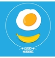 good morning funny concept vector image