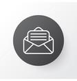 open envelope icon symbol premium quality vector image