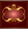 Royal gold frame vector image