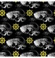 seamless pattern with shrimp lemon helm vector image