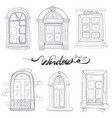 vintage window set vector image