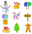 Doodle of christmas object set vector image