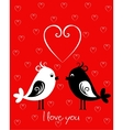 Happy Valentines Day card with birds vector image vector image