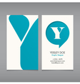 Business card template letter Y vector image