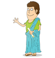 Greek Costume vector image