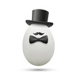 White egg in a hat vector image