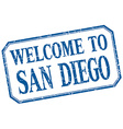 San Diego - welcome blue vintage isolated label vector image