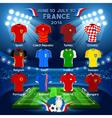 Teams EURO 2016 Championship vector image vector image